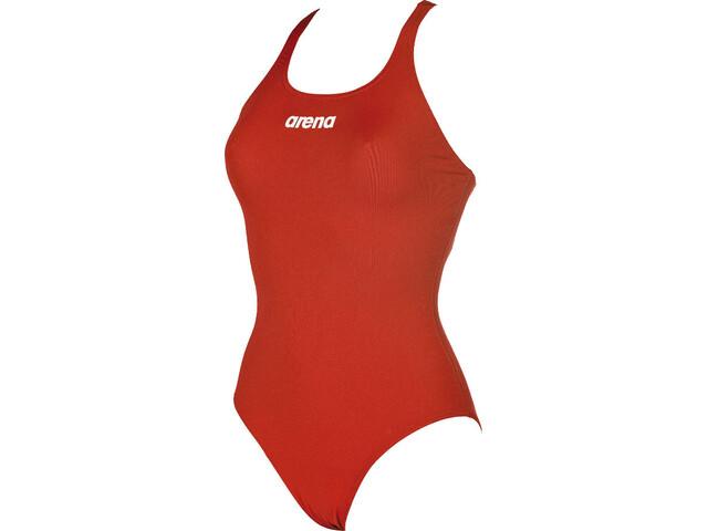 ae5797d1 arena Solid Swim Pro Badedrakt Dame red-white | Gode tilbud hos ...